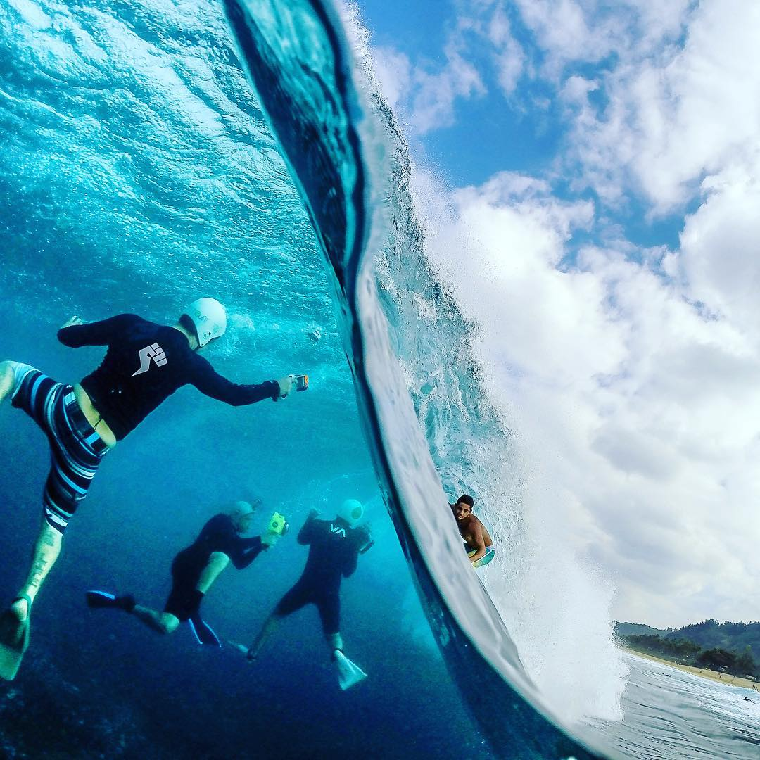 "Congrats to advocate @sf_photos_hawaii on his @natgeo ""Exteme photo of the Week"" feature showing different perspectives 