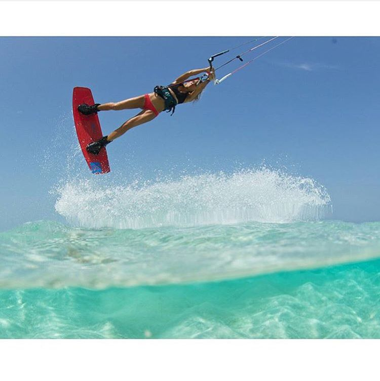 You've got this! Pro Kiteboarder  @colleenjcarroll demonstrates what it means to be a true bikini babe. #kitesista #beach #instagood #sun #kiteboarding #sensicolleen #sensimelanie #life #water @tobybromwich photo