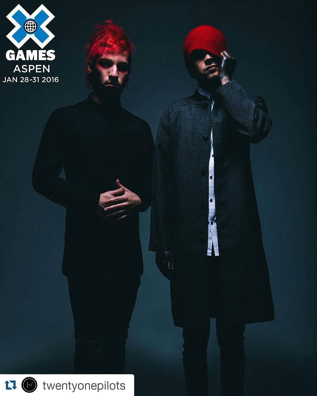@twentyonepilots is gonna turn #XGames Aspen upside down on Fri., Jan. 29!  Tickets are on sale now at XGames.com.