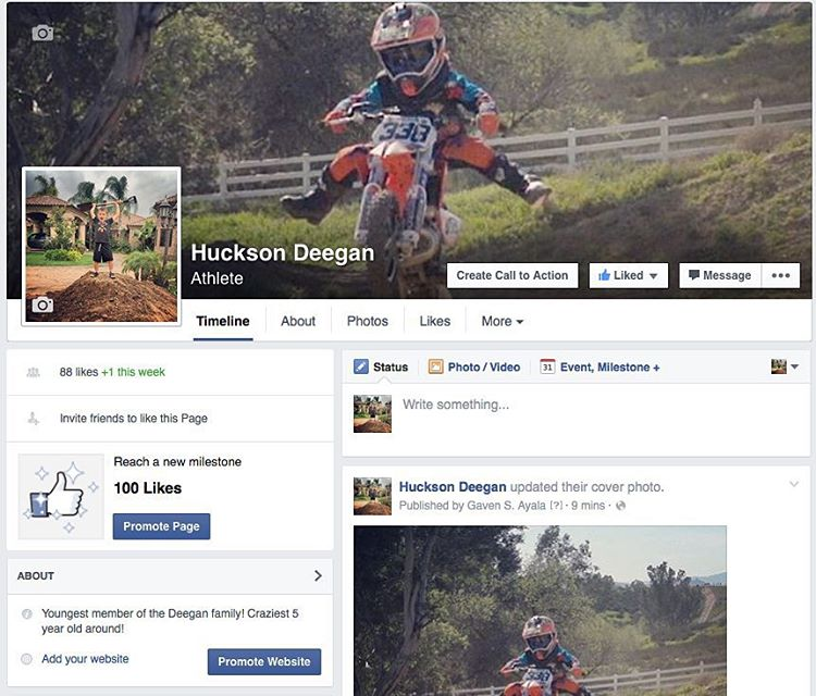 Check out @hucksondeegan new Facebook page! Be one of the first to like it