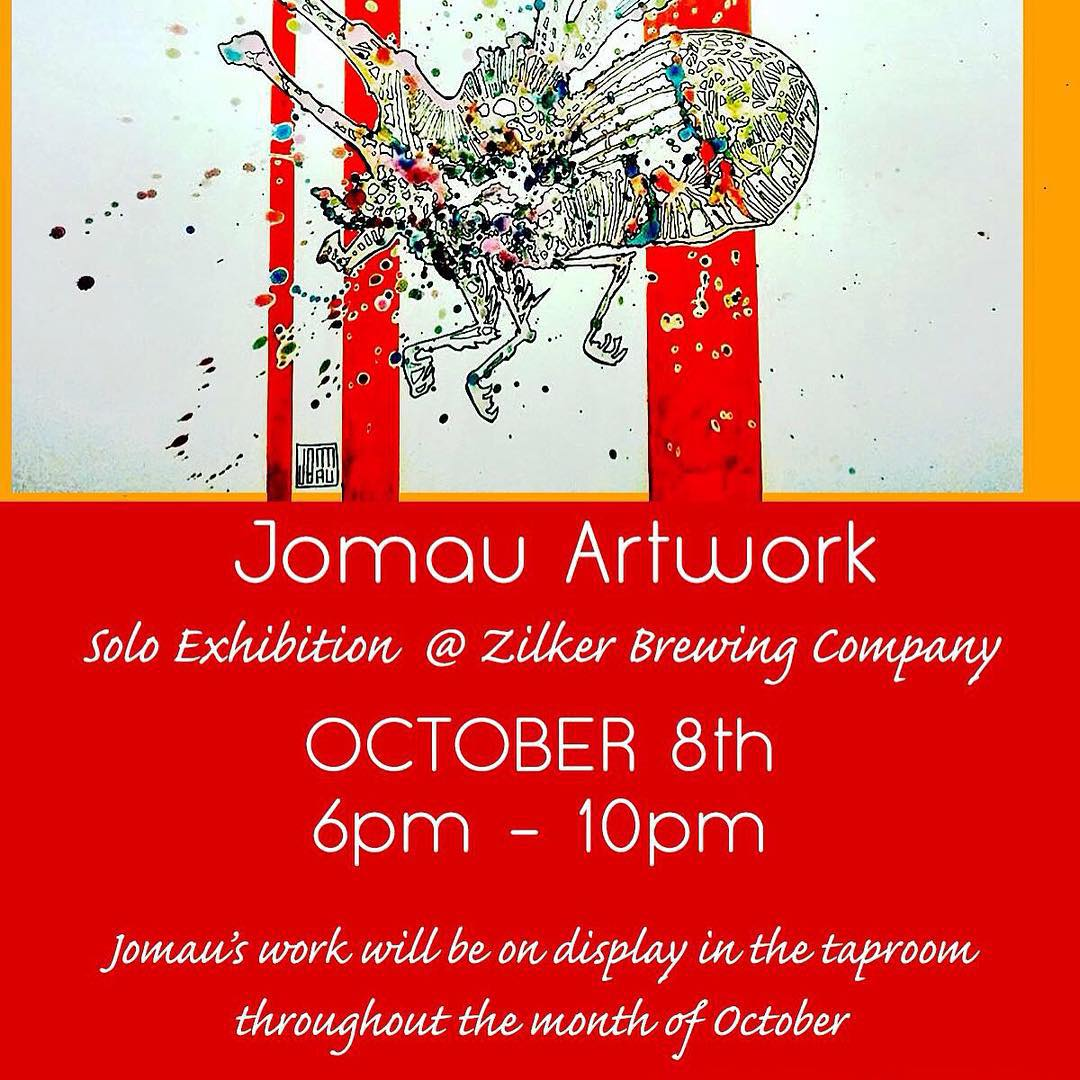 Back in Austin tonight. • • @jomauartwork solo exhibition Beer and art raffle! • • #atx #austintx #texas #tx #spratx