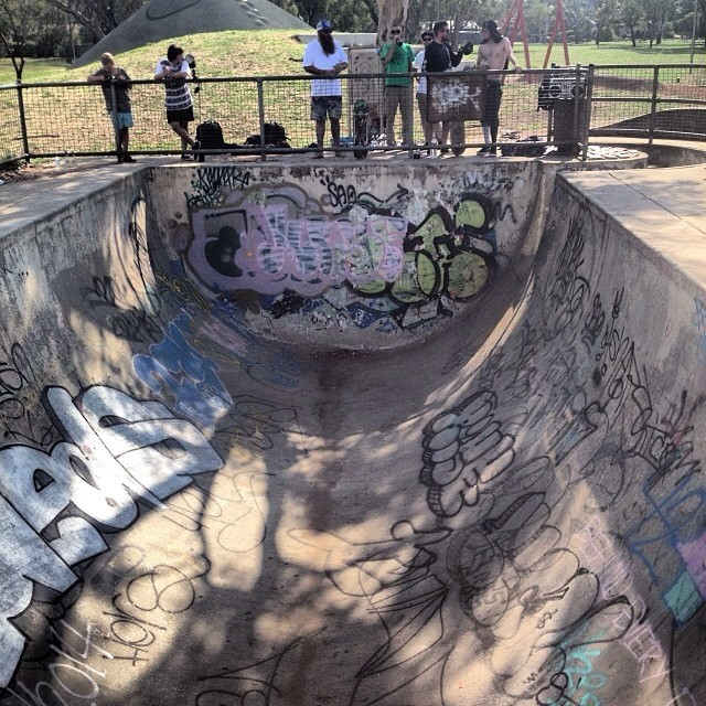 Regram @chrisrussell_mbk is in #oz. #skateboarding literally a #halfpipe