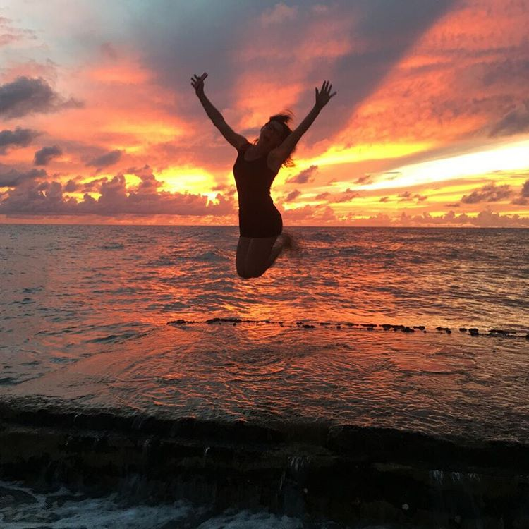 Last photo from Barbados: my wife, jumping for joy in the sunset, snapped by @KitCope. Pretty epic capture. #epicphootisepic #sunsetvibes #yumpforyoy #Barbados