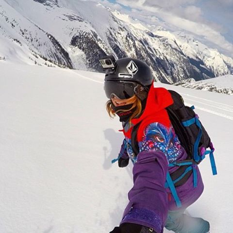 We are in LOVE with the new @volcom x B4BC snow collection worn by #TeamB4BC rider @elenahight! This year, @volcomsnow collaborated with artist and B4BC supporter @vanessastarkart to create a jacket, fleece, glove and stomp pad all benefiting B4BC's...
