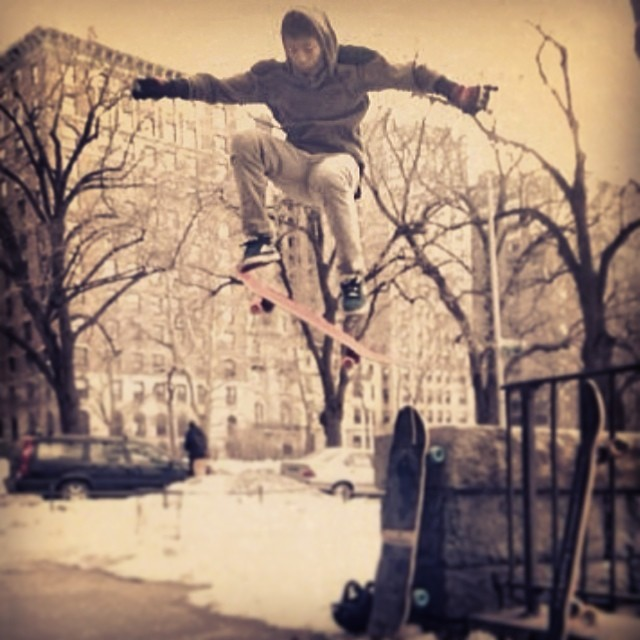 @nycl_kai rocking his #pushculturehoodie on a cold #NYC winter session.