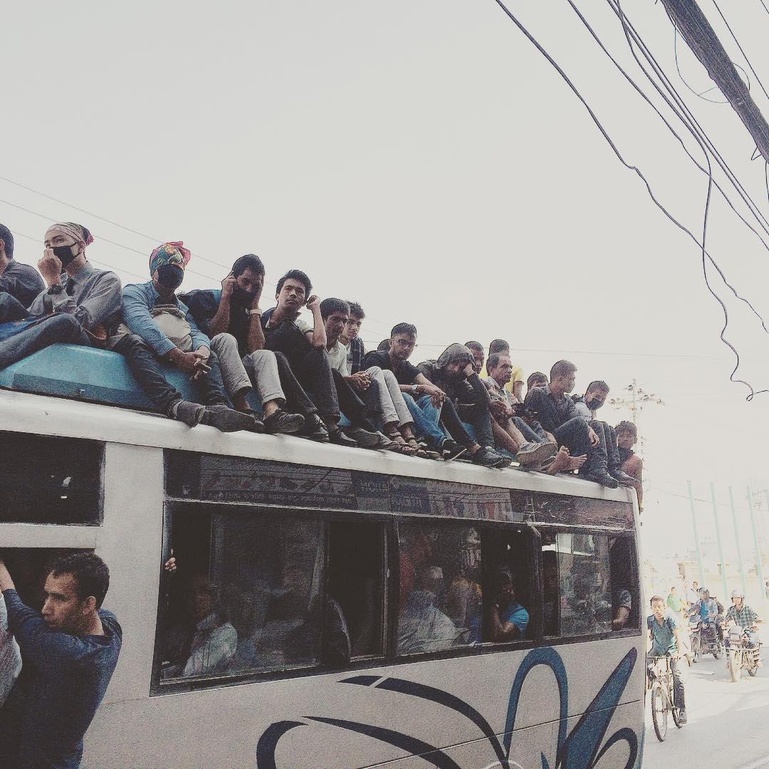 People crammed in and on top of busses is a common site in Nepal these days as a result of a massive petrol shortage that has lasted more than 10 days. The government passed the controversial new constitution in September, resulting in protests and a...
