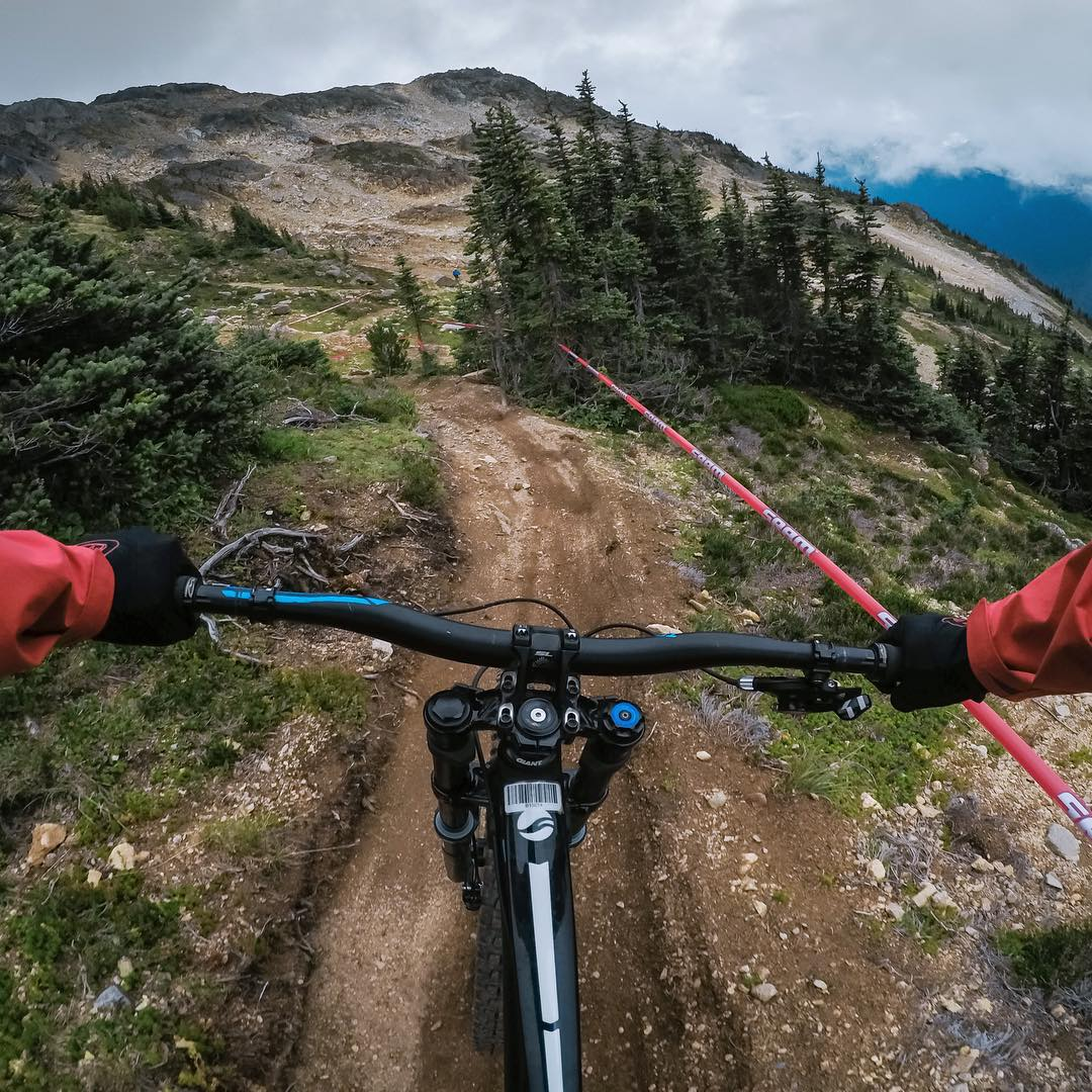 #GoPro Featured Photographer - @nickkeating  About the shot: Upon entering @whistlerblackcomb for @Crankworx this year, we checked into our hotel rooms and blasted straight for the lift. We had arrived a day early for scouting the mountain and to...