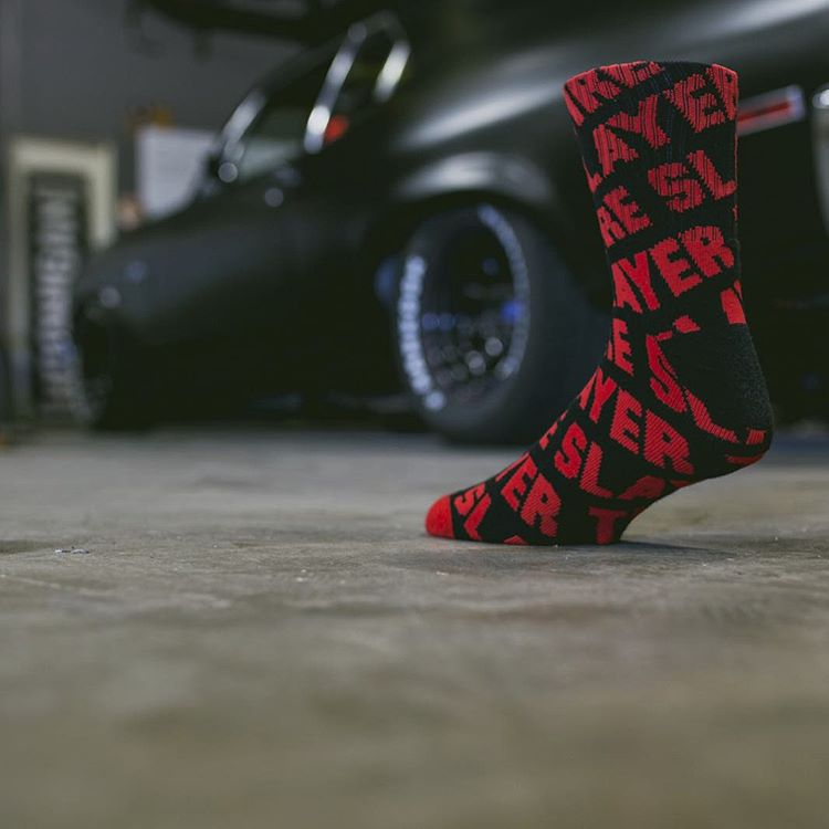 No tip toeing around the #napalmnova throttle pedal. The Tire Slayer socks, always down for the cause. Click the link in our bio for #hooniganDOTcom!