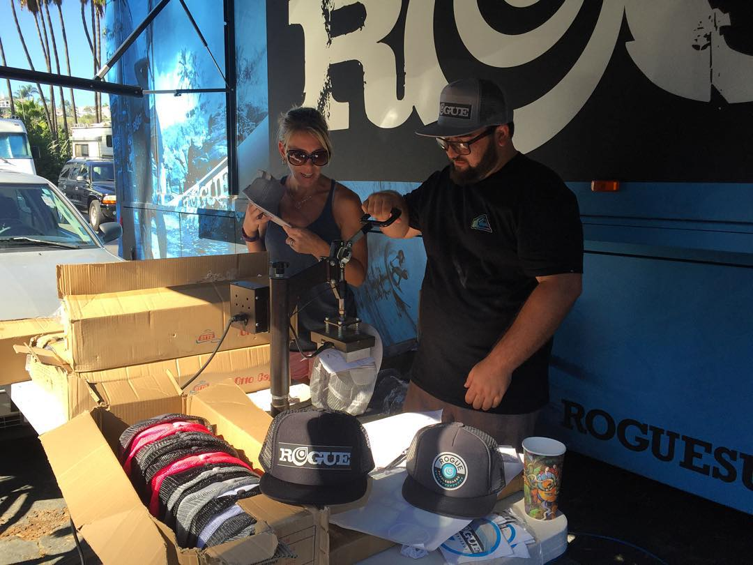 Hats on hats on hats! Head over to the #roguesup tent tomorrow to get your hands on one! #ppg #paddle #sup