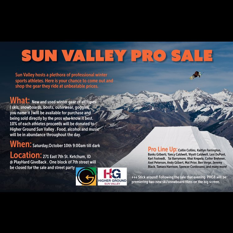 TOMORROW!!! 9am @banks.gilberti Sun Valley Pro Sale || Pancake Bar with Mimosas! New and Used Gear