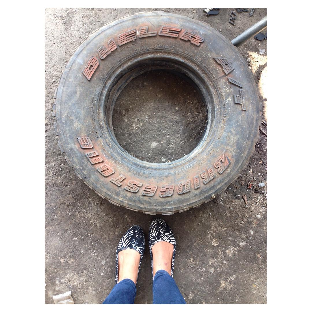 More snaps from the workshop! Here's a #fromwhereistand style photo that has #TiresToSoles written aaalll over it.