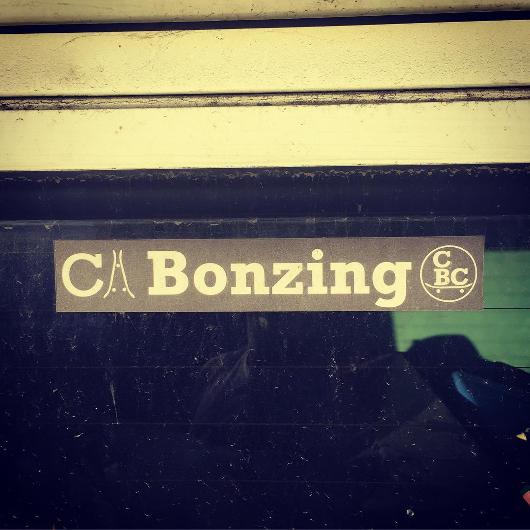 Flash back Friday!  Found one of the first stickers we ever made on the back of a VW bus today!  #bonzing #wow #hustle #bayarea
