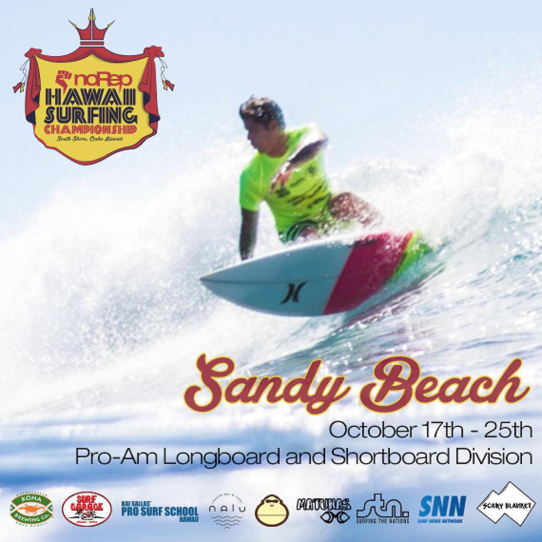 The Hawaii Surfing Championships is ramping up for the last stop on its summer tour of the south shore at... Sandy Beach! Come down and watch some of Hawaii's finest surfers compete in what we hope will be epic conditions at one of the most storied...