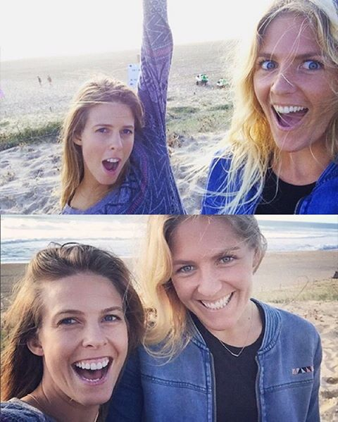 Two good not to #regram. ROXY royalty @stephaniegilmore & @torahbright exchanging good vibes at #ROXYpro yesterday.