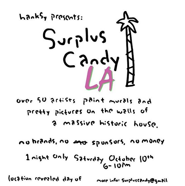 @hanksynyc #surpluscandy • • To be honest.. If you miss this tonight you will never forgive yourself.
