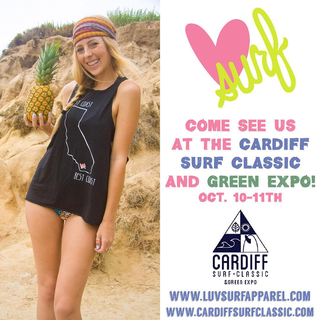 Surf looks solid- so we'll be here all weekend! Come on out and give us a high five! #luvsurf #event #cardiff #surf