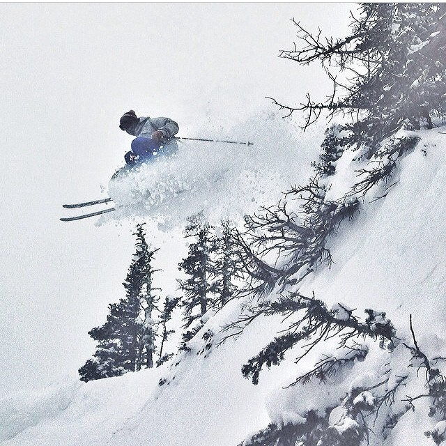 Regram from @maxwellsilver on location at Bridger Bowl Montucky. Ryan Walters popping some powder covered pillows. #coldsmoke #montana #trewlife #lucky