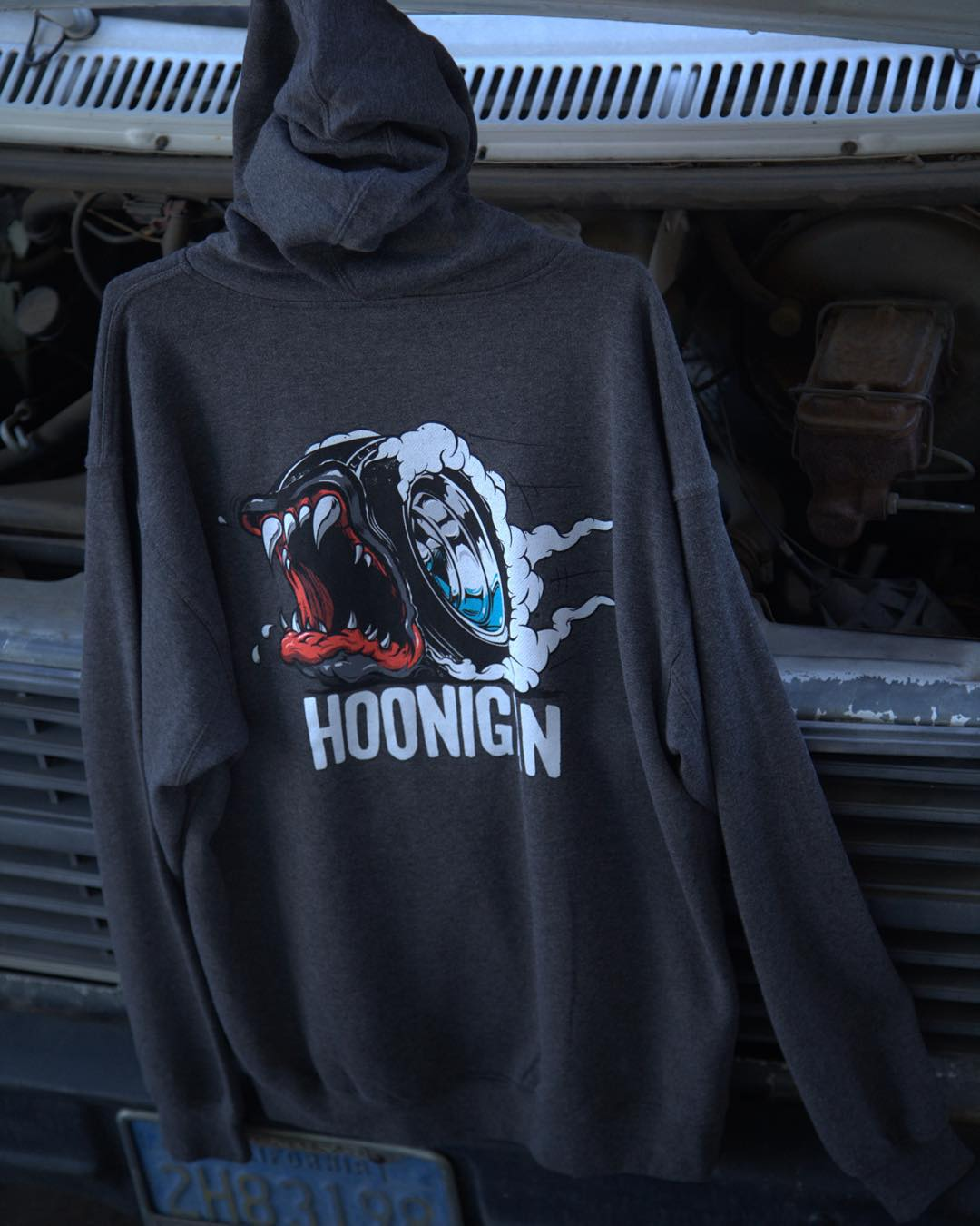 The Creature of The Hoon pullover hoodie: It, along with other rad gear for the changing of seasons, is just a click away through the link in our bio. #hooniganDOTcom