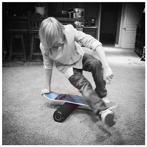 Getty tricky on the #core32  board.  #revbalance #findyourbalance #balanceboards #madeinusa