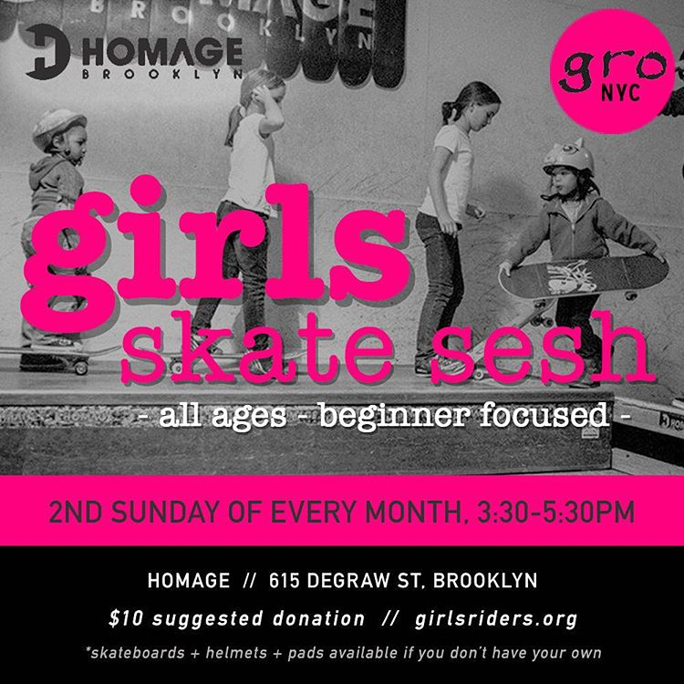 Can't wait to see you al @homage_brooklyn tomorrow! #ridetrue #nyskateboarding #ladiesofshred #girlskater