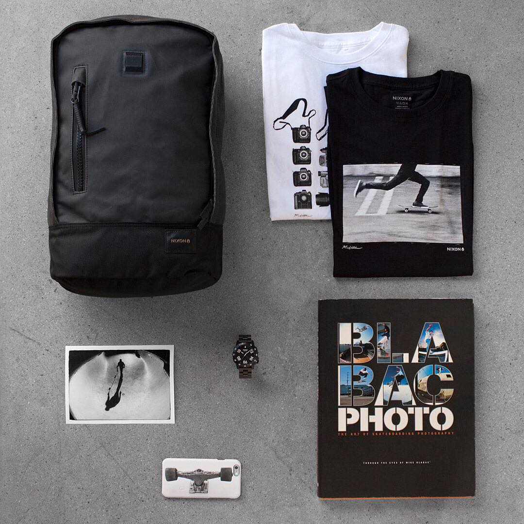 Essentials to get the shot. Shop @blabacphoto photo series tee collection, new and now available on Nixon.com. #NixonNow #BaseBackpack #Ranger