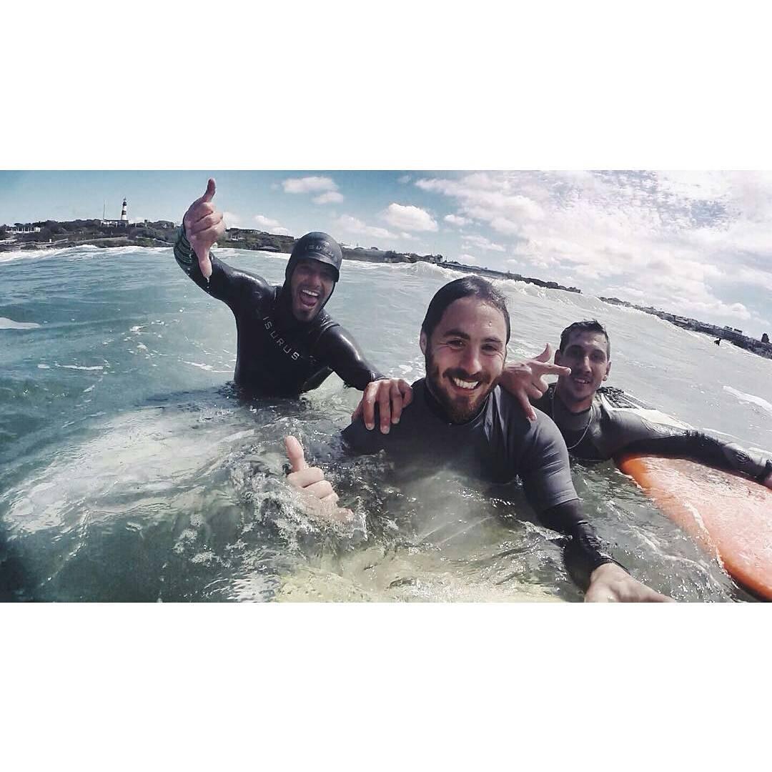 @joacoteran, @mpasseri1 y @rama_picco compartiendo un poco de mar!