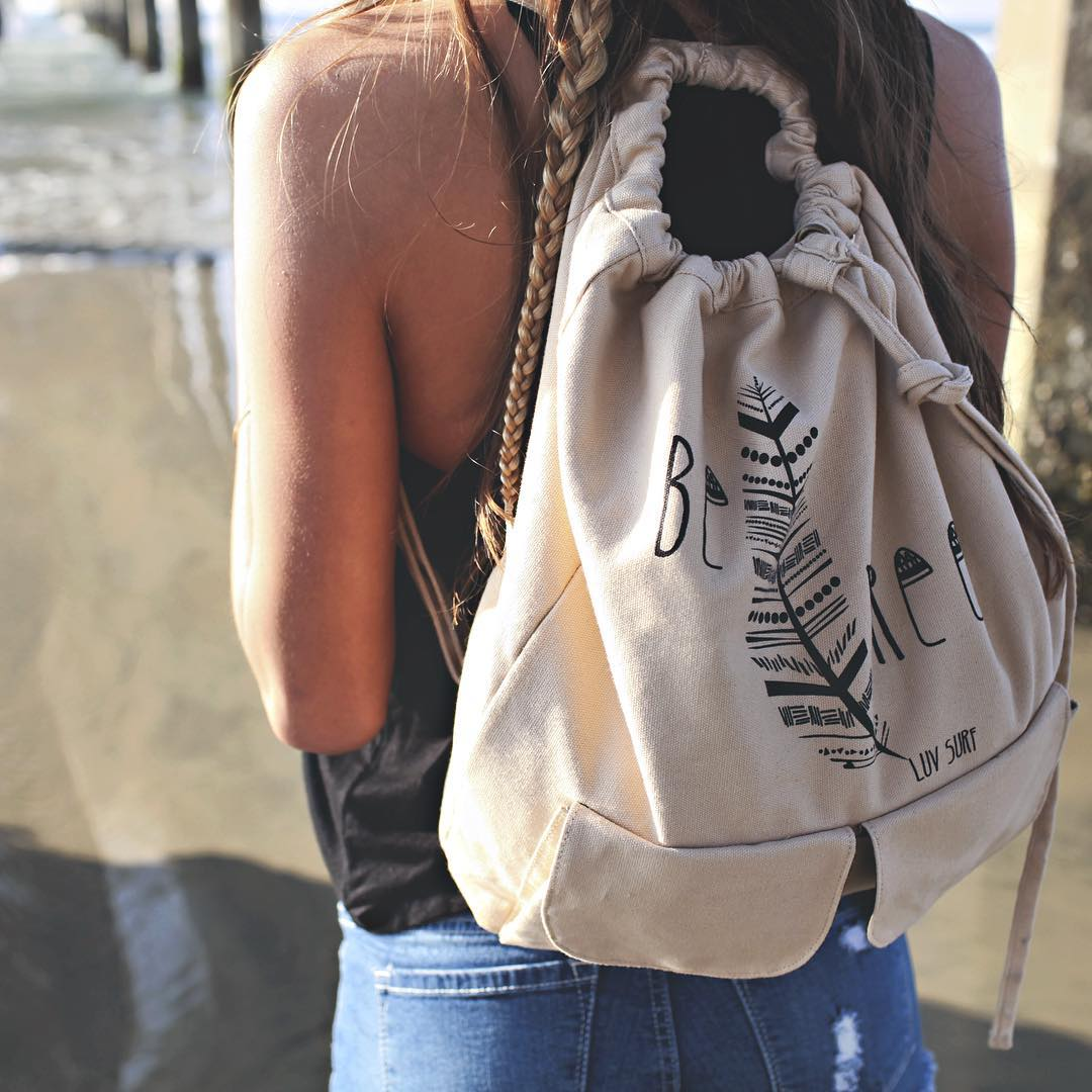 Pack up and GO #luvsurf #befree #backpack #wearthecalidream  make it yours, shop link in bio