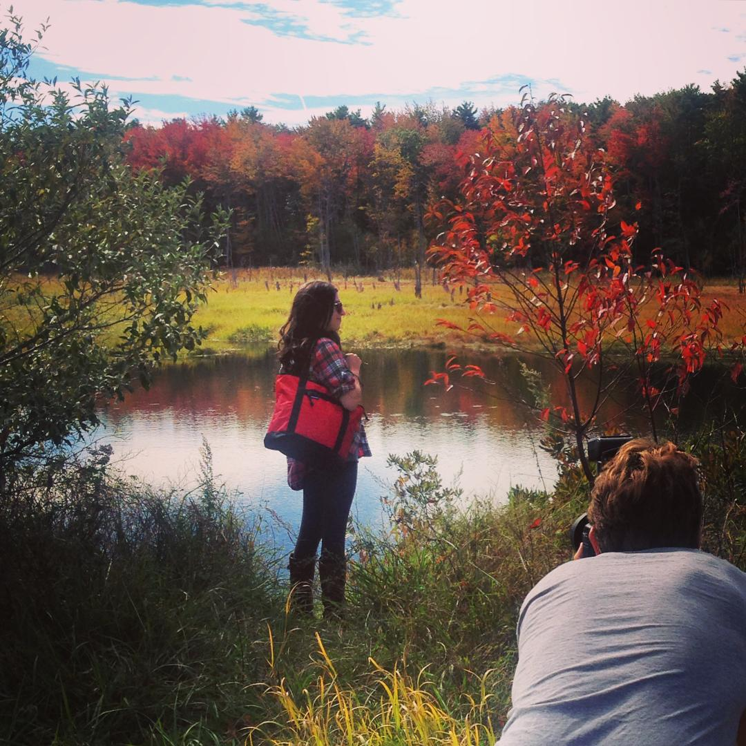 Photographer @markyaggie in a moment of focus on this beautiful fall Sunday in Maine.