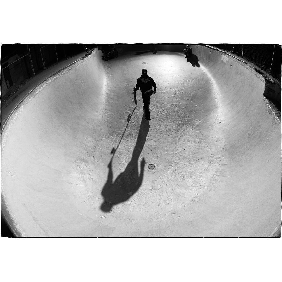 @Dannyway, night skate session at Pala Pool, 2006. Photo by @blabacphoto. Get to know more about Blabac and his limited Photo Series Tees at Nixon.com/happenings.  #NixonNow
