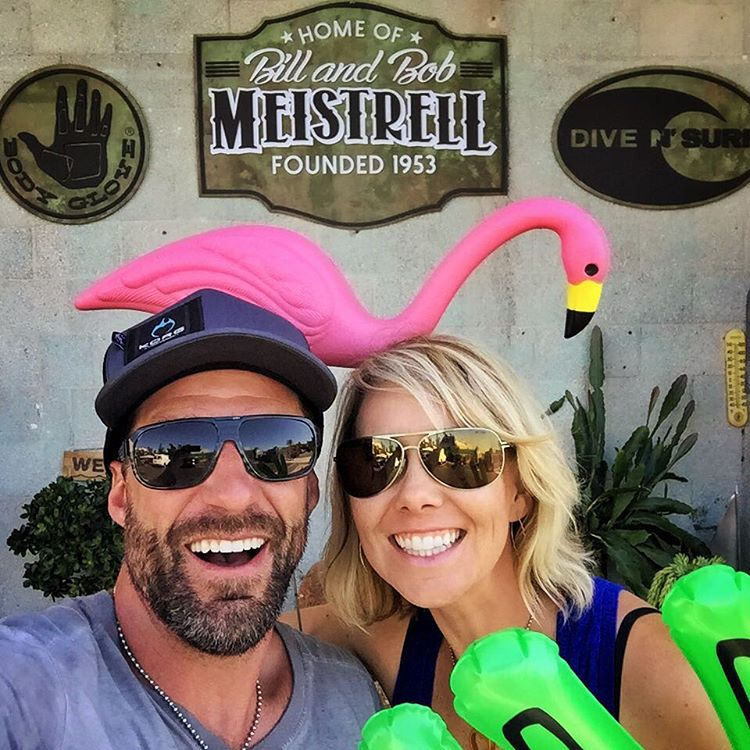 Great time visiting #divensurf & @bodyglove53 HQ in #rodondobeach.  Got to hang out with one of the @lazyflamingos (I think he was trying to steal a kiss from @shawnakorgan)... #MadLuv #TeamMeistrell - have fun in #Malta you guys!!!! @anothersplash |...