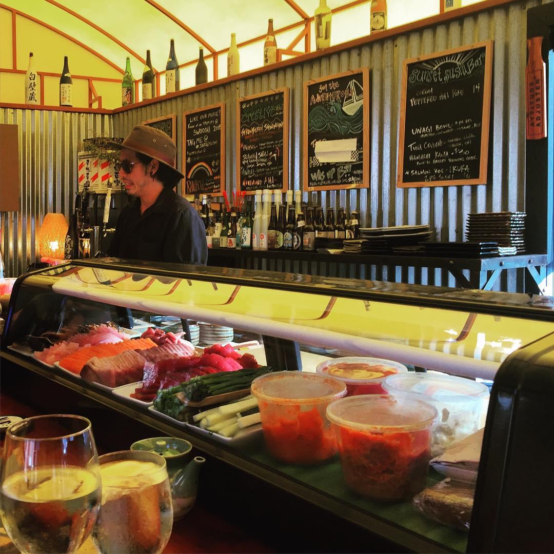 Sushi + Big Sur = Heaven @laurenschlanger #treebones #sarahsushi #bigsur #roadtrippinwithrachel #sundayfunday #wanderlust #exploremore