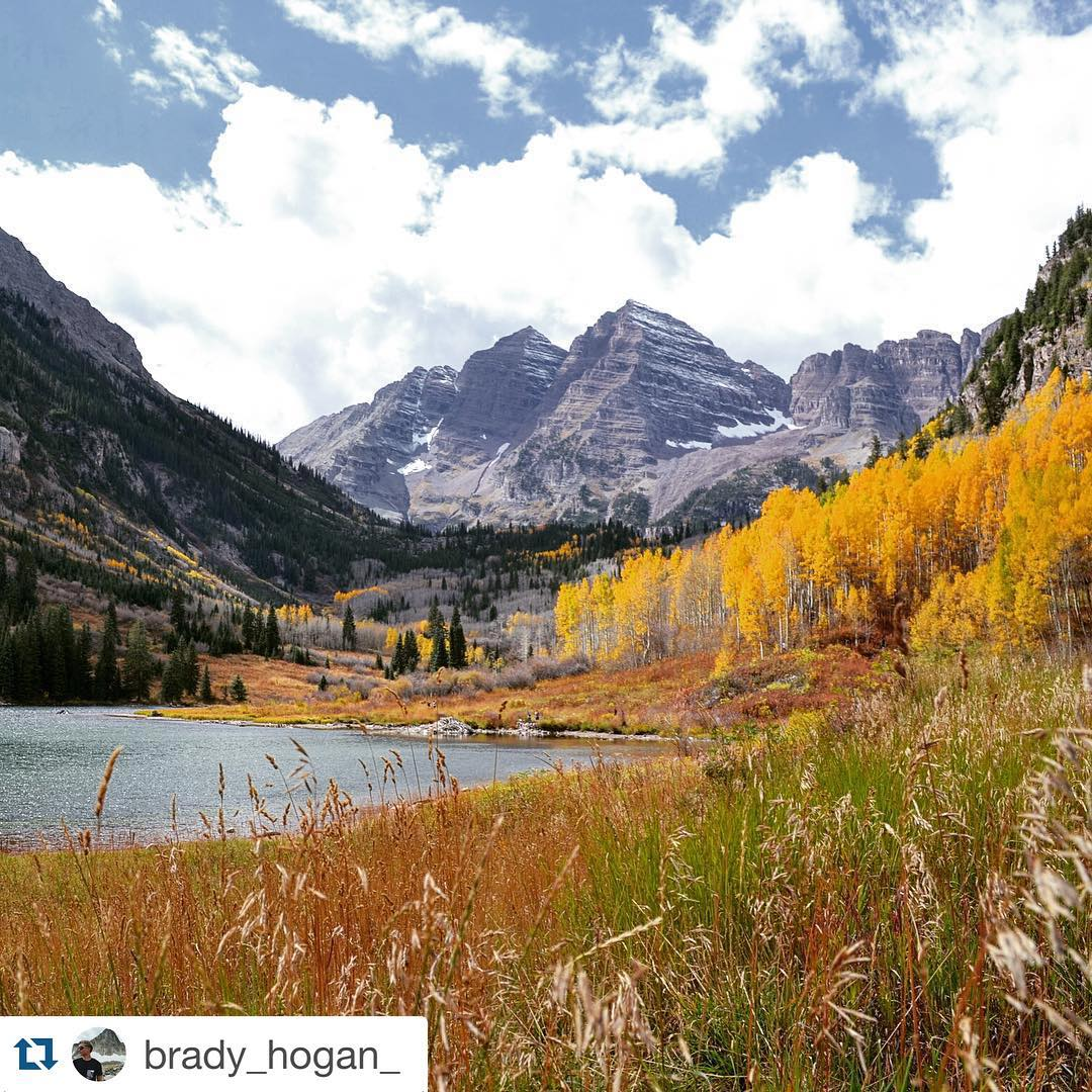 Awesome shot, thanks for sharing! Repost @brady_hogan_ ・・・ The Maroon Bells in Aspen, Colorado is one of the most spectacular places I have ever been to!!! Can't wait to go back next year!! @concretecoast #colorado #aspen #fallcolors #adventurebuddies...