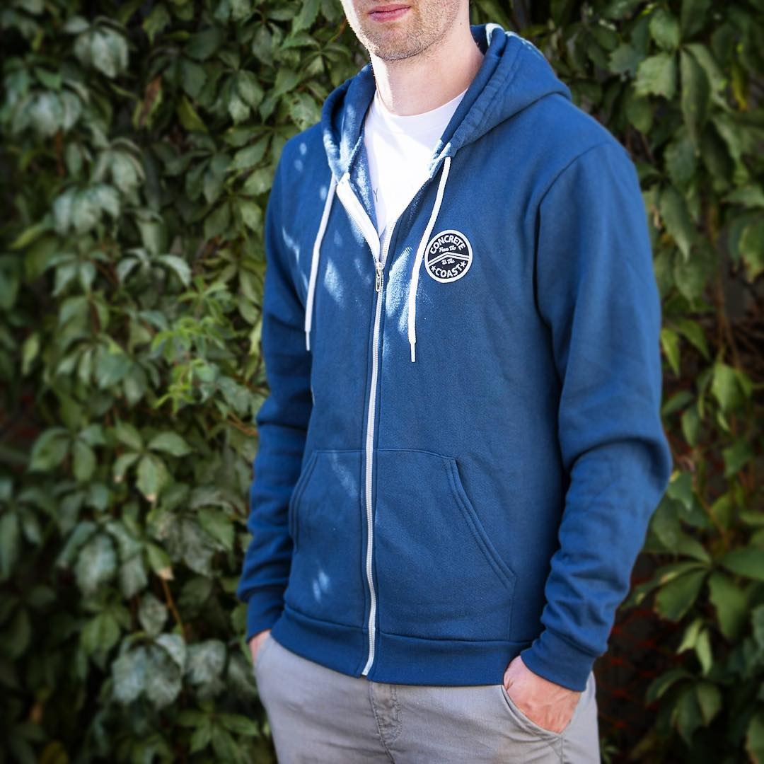 2015 zip ups are now in stock!  Leaves are falling and it's time to start layering up, winter is right around the corner.  Now available in bay blue, deep red, and black.  Link in profile.  #hoodies #zipup #denver #colorado #concretecoast #staywarm...