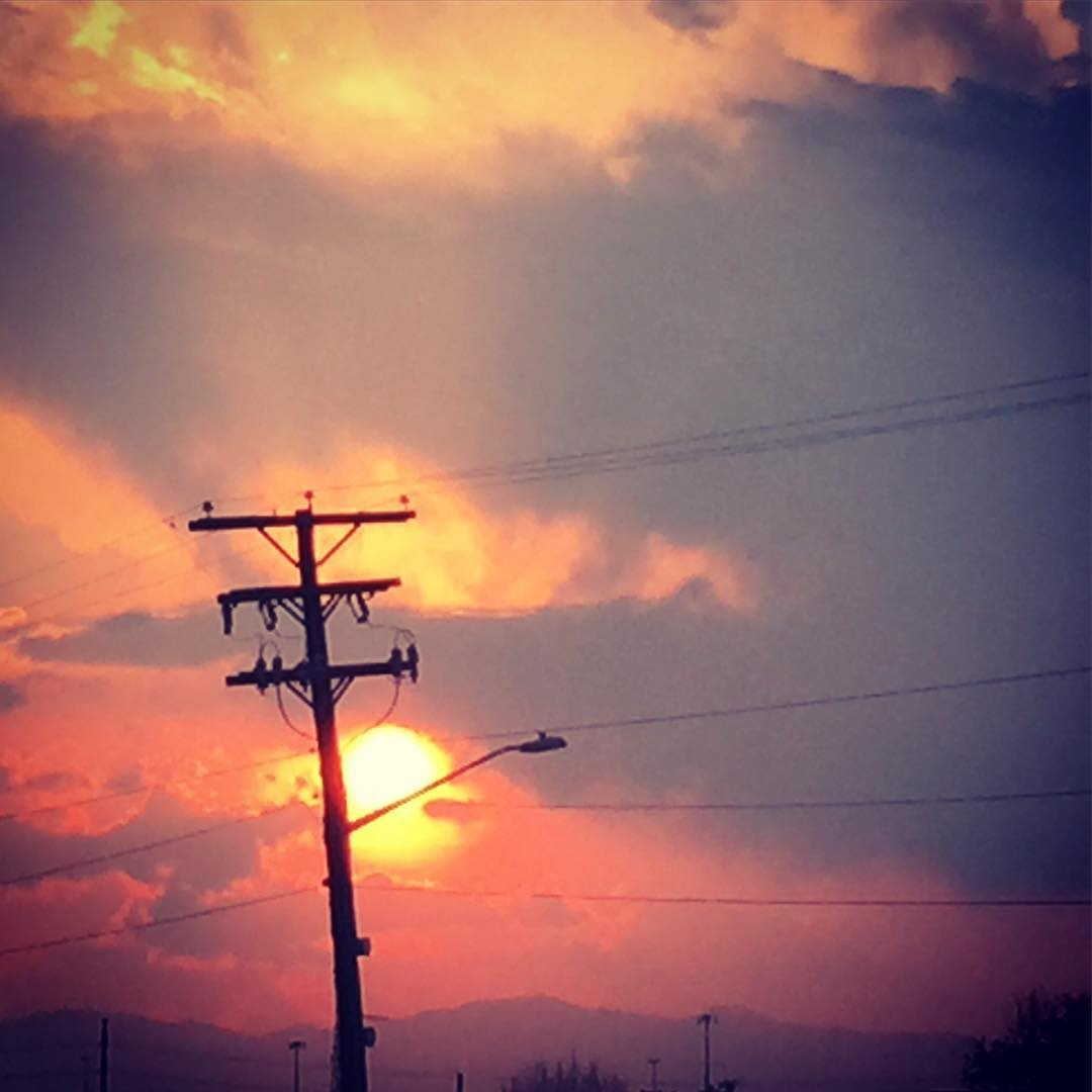 Mandatory #sunset #instagrab.  We are selling new tees and hats in the #rino area in #Denver, #colorado tonight by #industry.  Stop by and say hi if you're in the area.  #happyfriday