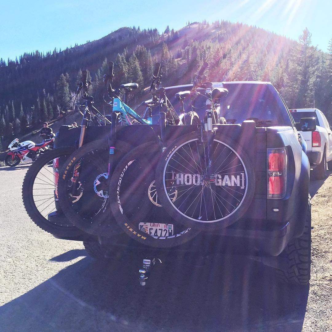 This view makes me happy. Ford Raptor shuttle up to Guardsman Pass yesterday with my wife and some friends. Knocked out a 14 mile ride from 10,000 feet up, back down to my house in #ParkCity. Good times. #mountaintownlife #iamspecialized #FordRaptor