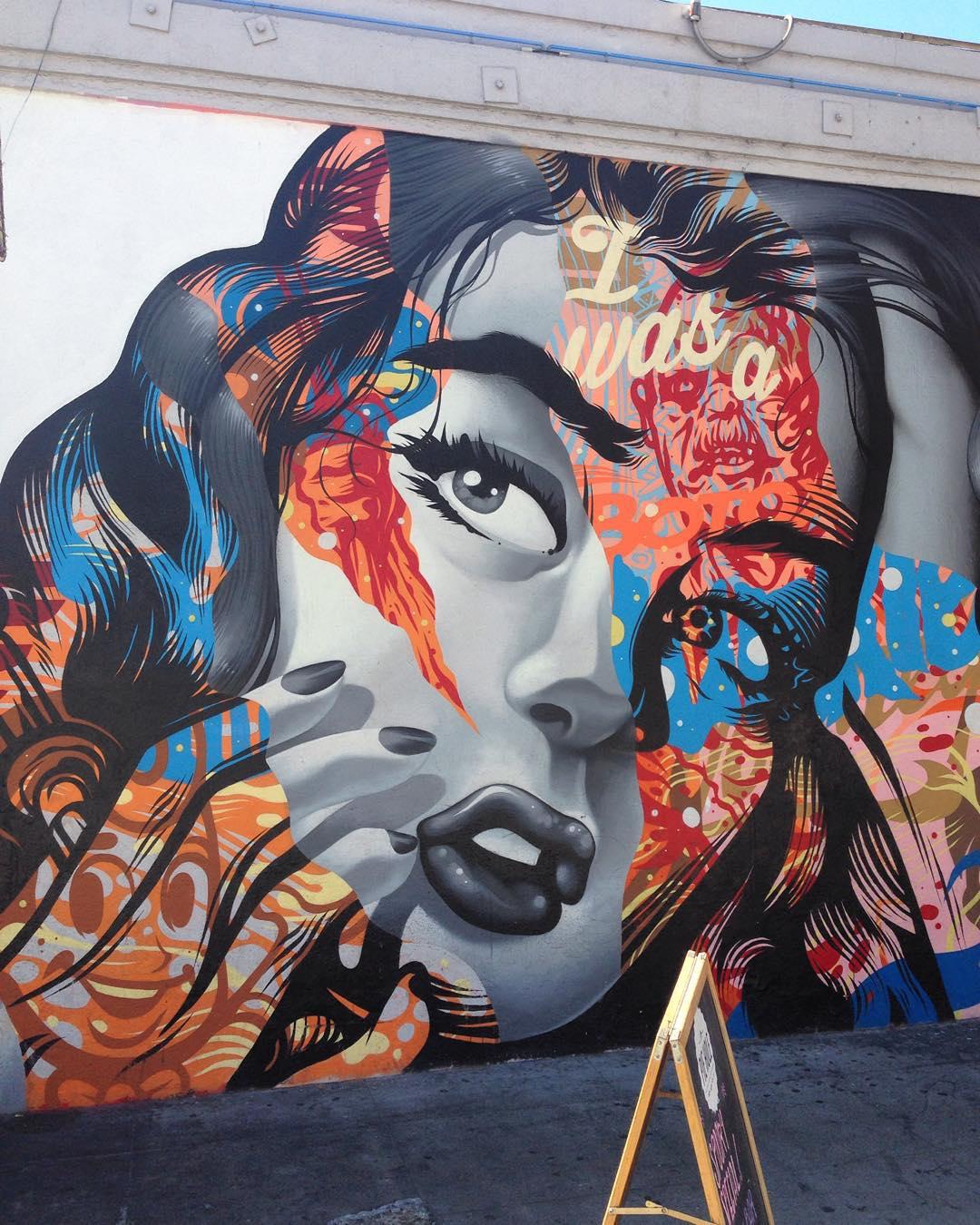 @tristaneaton • • Los Angeles #LA #LosAngeles • • #mural #art #tristaneaton