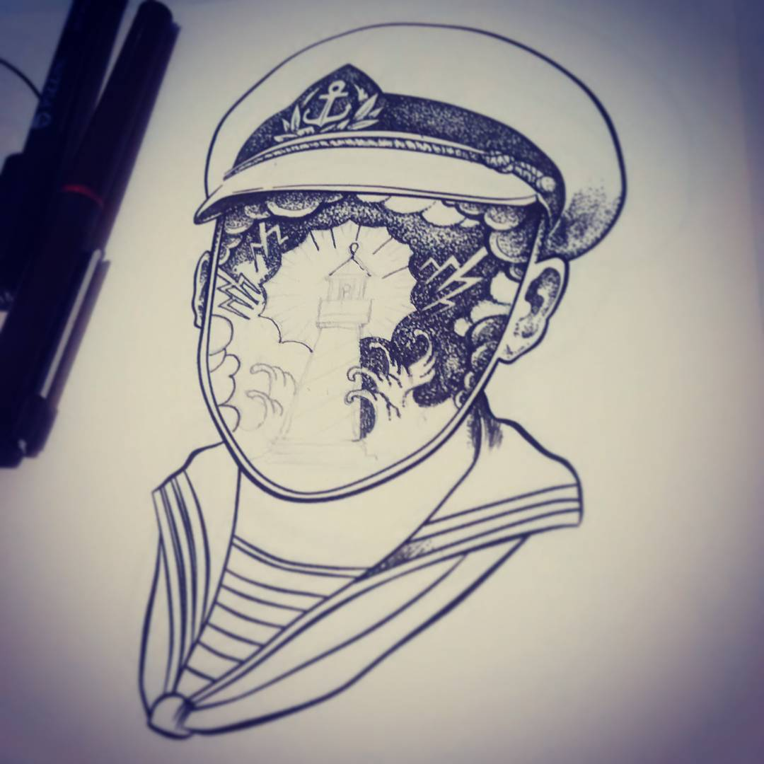 #miumtoys  #illustration  #sailor #inked  #tshirt  #workinprocess