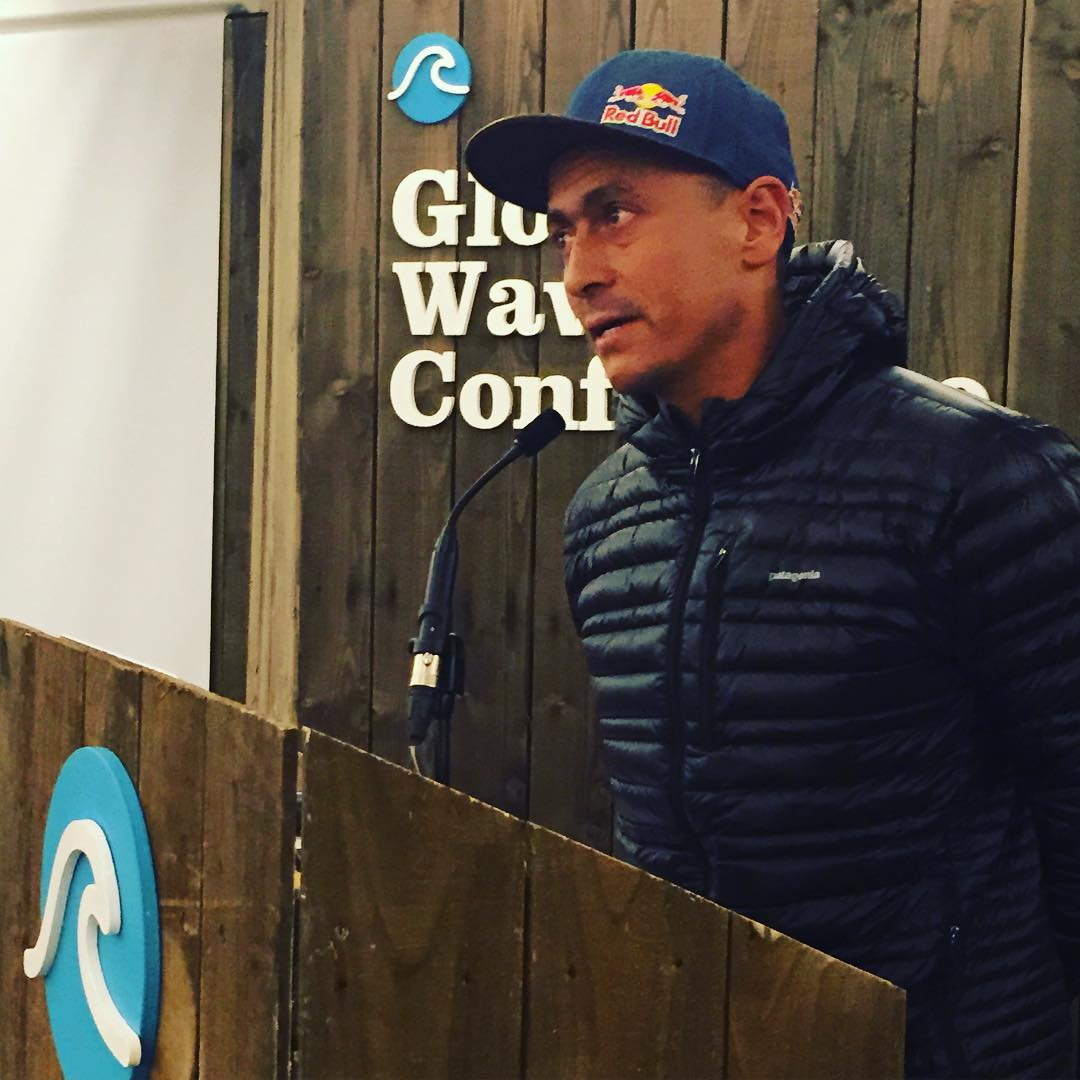 Amazing to hear Chilean big wave surfer Ramon Navarro @surfnavarro speak today at the #globalwaveconference in Cornwall, England, about his decade long experience to protect his hometown wave and the land at Punta de Lobos
