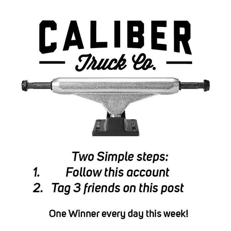 Follow @caliberskate and win some #caliberstandards