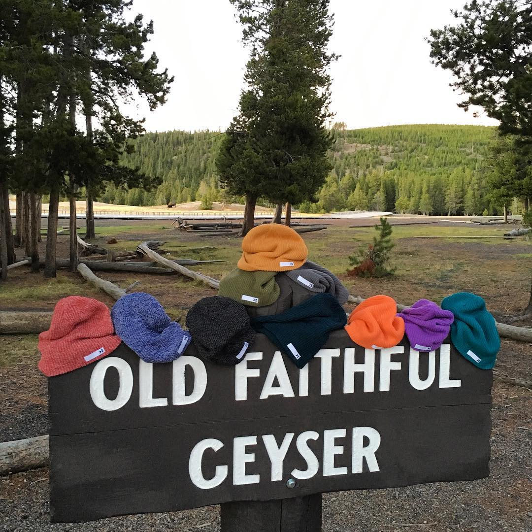 Looks like our beanies have successfully Adventured their way to Old Faithful in Yellowstone National Park. -- Tag your most adventurous friend below & share the love of promo code 'kzbeanie15' to save 15% on these beautiful premium knit...