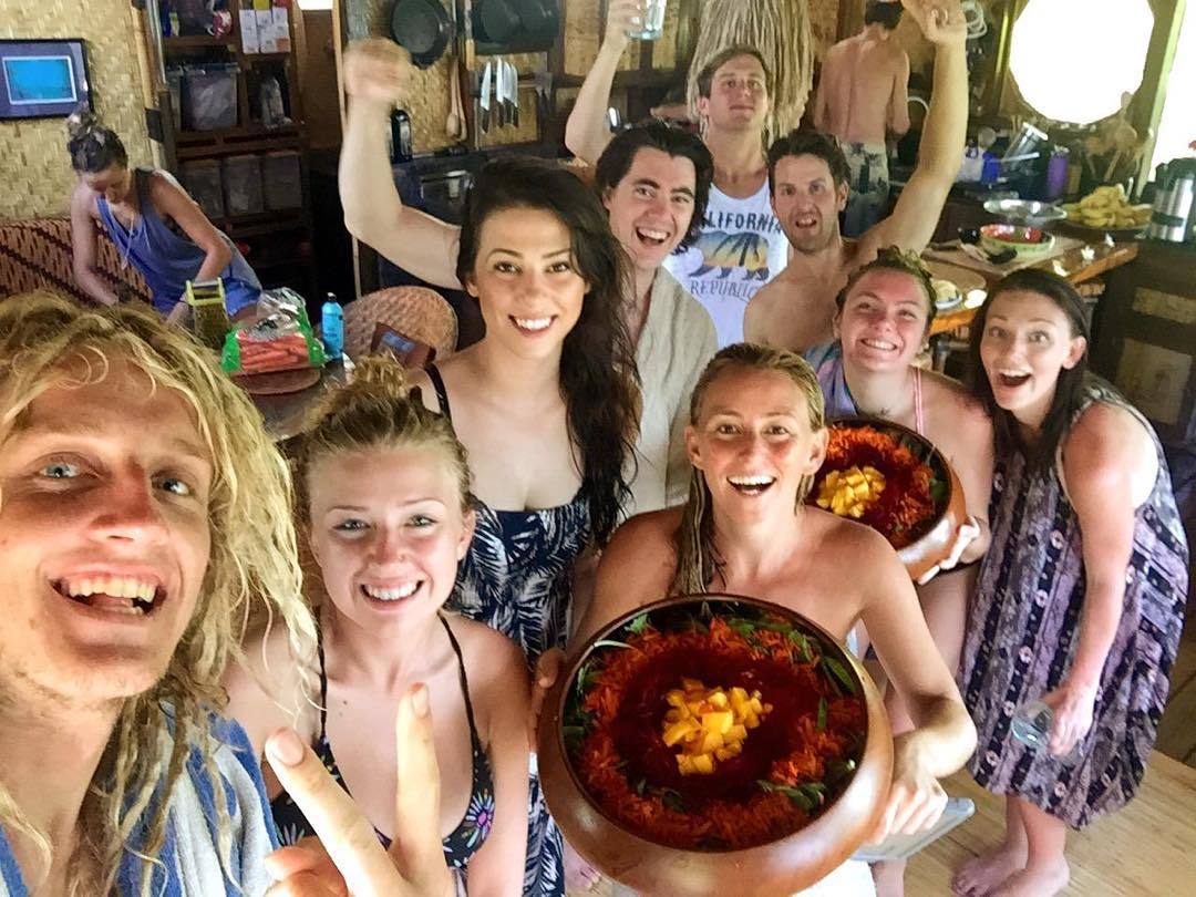 This week I'm honored to be hosting a crew of wild and wonderful YouTube stars at my grass shack as we explore the island raising awareness on plastic pollution in the ocean! Stay tuned for some great videos...after we eat this lunch of local organic...