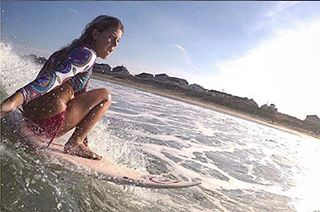 S/\LTY @little_logster just dropping in. #luvsurf #wearthecalidream #luvsurfgirl #grabrail #surf