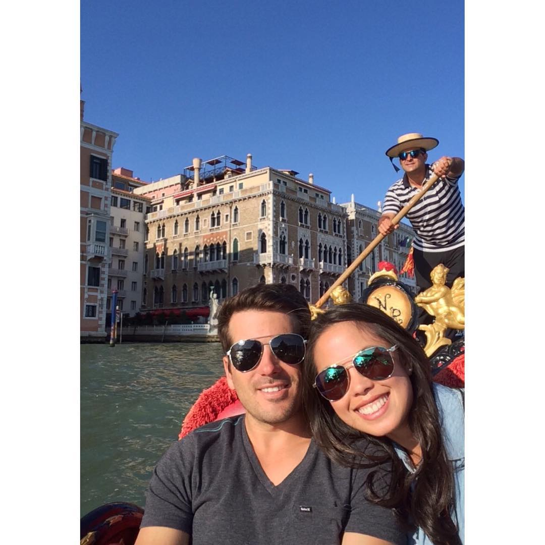 Gondola cruisin through the Grand Canal.  What's your vision?  Make sure to tag or submit your photos to @hovenvision to be featured on our page!  #hovenvision #powercouple #venice #italy #gondola #grandcanal #dewy #aviators