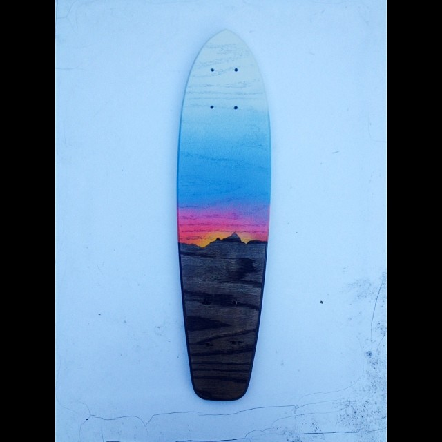 Trying out some new paint ideas. Cruising into the sunset.