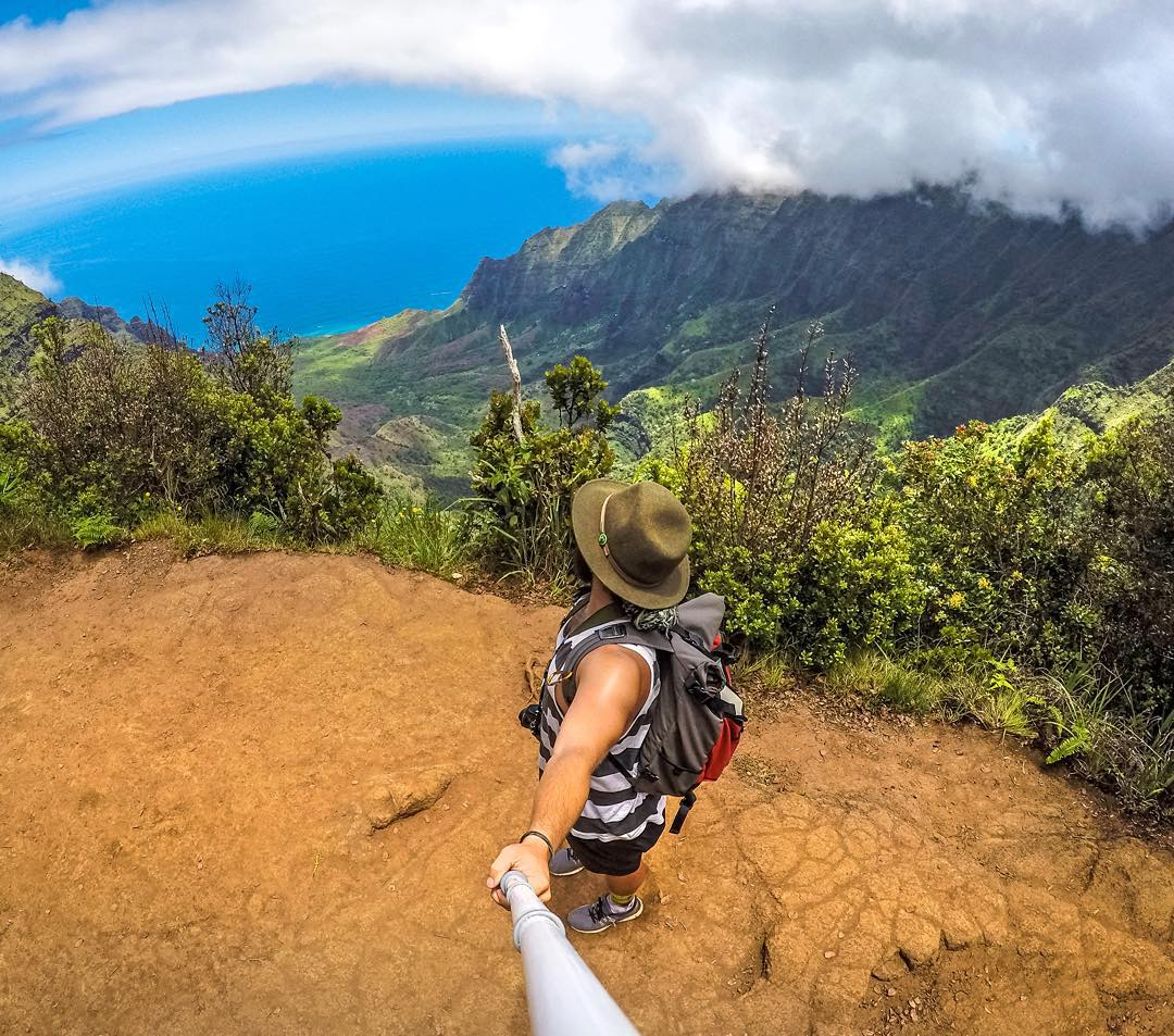 @admwlkr hiking Kalalau Trail on the island of Kauai in Hawaii. GoPro HERO4 | GoPole Reach #gopro #gopole #gopolereach #hiking #hawaii