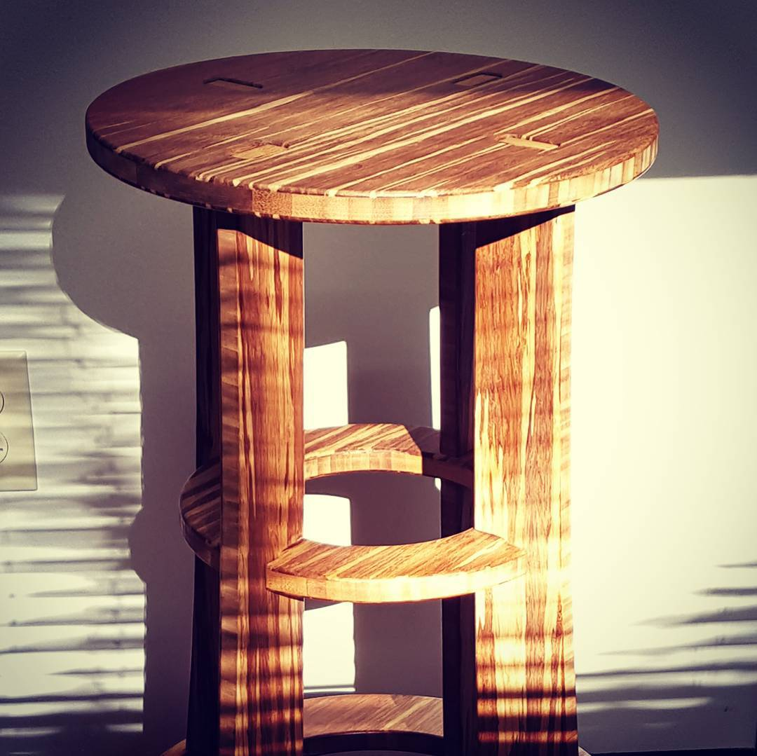 Tiger stool.  #stool #barstool #bamboo #furniture #bar #tuesday #work #office #view