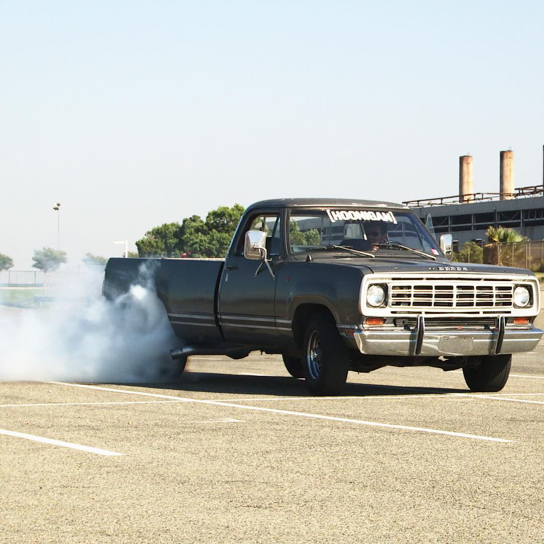 Our dude @tangelo96 breaking in #rollsmokey the only way a Hoonigan knows how to. #killalltires