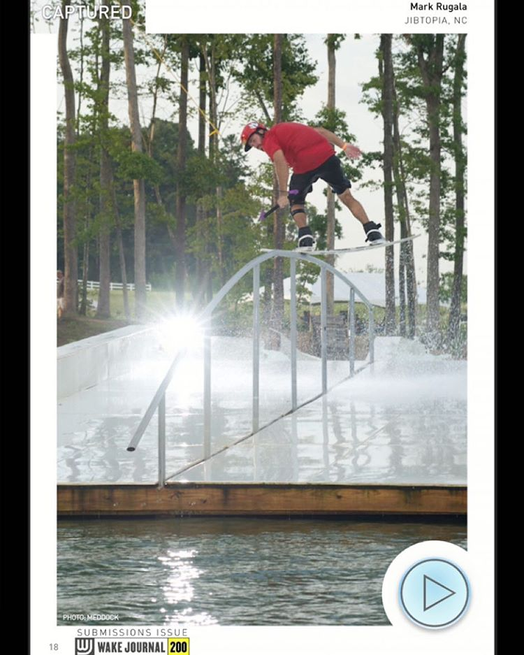 @markrugala featured in @wakejournal with this quality back lip at @jibtopia #wakeboarding