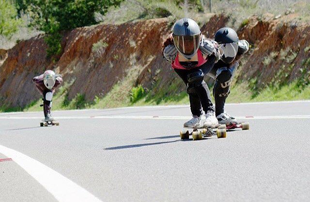 The girls from Chile charging! Respost from @dhfem_chile. @franncescaac photo.  #longboardgirlscrew #womensupportingwomen #skatelikeagirl #lgc #lgcchile #dhfemchile #chile