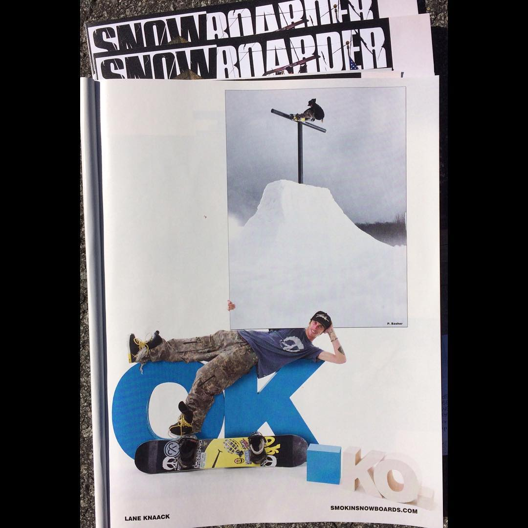 The October issue of @snowboardermag just arrived , sick issue with @laneknaack on a one of the features he has helped build for #Superpark